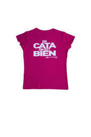 T-SHIRT FILLE - EN CATA ON EST BIEN