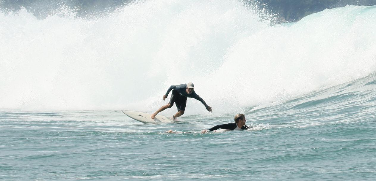L'objectif était de trouver de bons spots de surf…