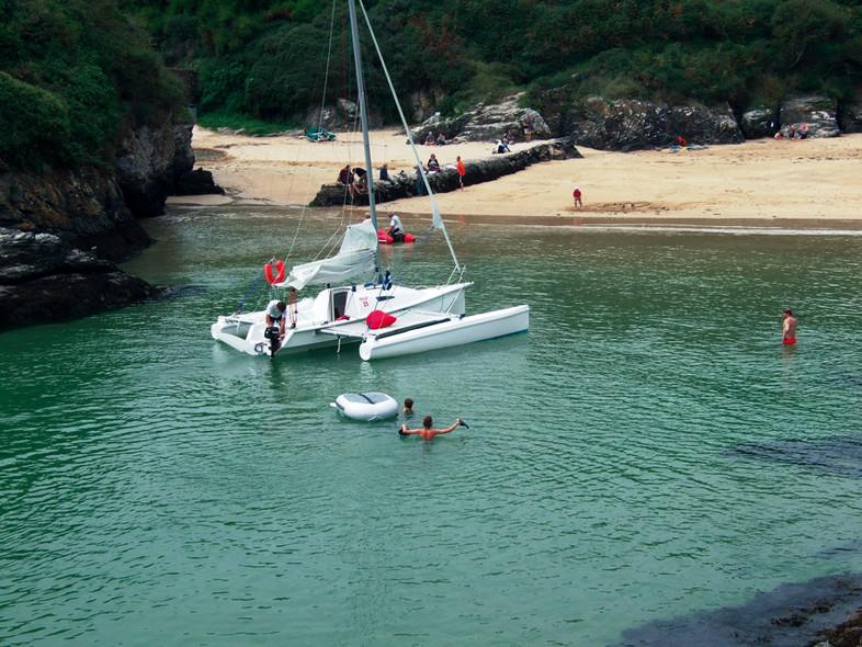 Crique inaccessible sans croiseur côtier