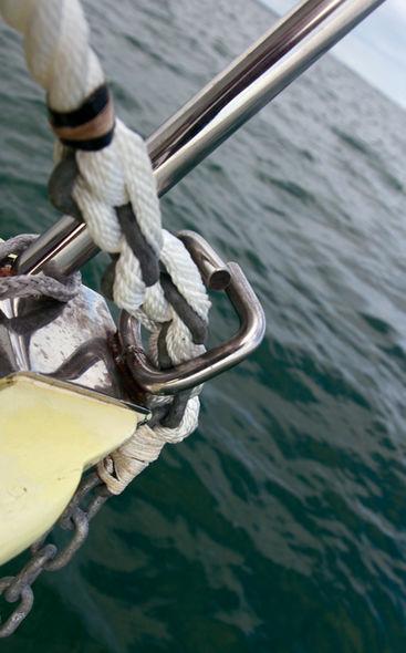 Epissure chaîne/textile mouillage catamaran