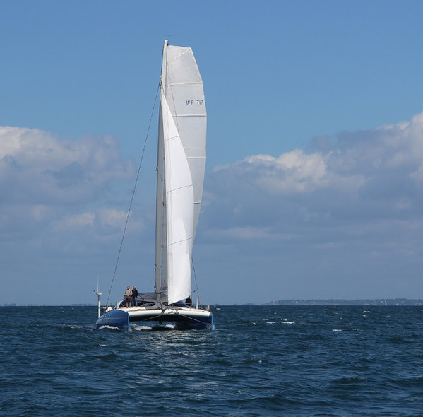 Jean-François Desmars catamaran grand-voile