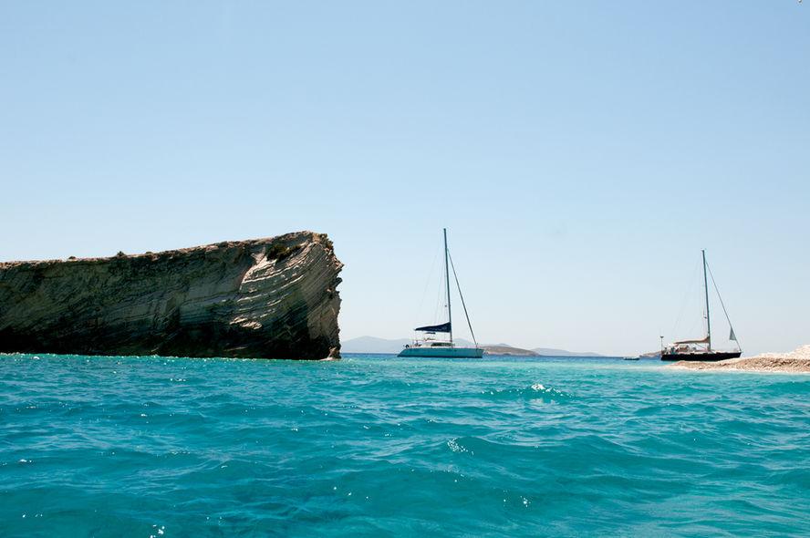 Mouillage de rêve en catamaran