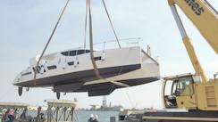 Mise à l'eau du premier catamaran Xquisite X5