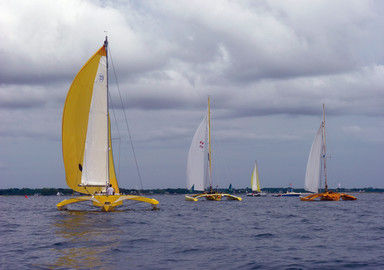 Route du Rhum Essai course : A Capella, un trimaran pour gentleman skipper