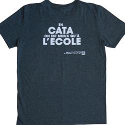 T-SHIRT - EN CATA ON EST MIEUX QU'À L'ECOLE - GRIS - HOMME